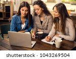 group of beautiful female... | Shutterstock . vector #1043269504