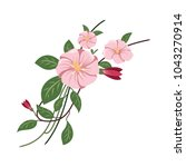 floral elements vector | Shutterstock .eps vector #1043270914