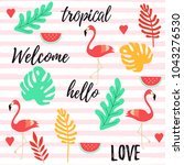 tropical background with... | Shutterstock .eps vector #1043276530