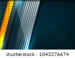 abstract tech background with... | Shutterstock .eps vector #1043276674