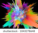 explosion of saturated virtual... | Shutterstock . vector #1043278648