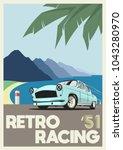 Vector Retro Racing Poster...