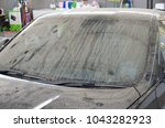 the dirty window of luxury cars. | Shutterstock . vector #1043282923