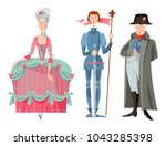 history of france. queen marie... | Shutterstock .eps vector #1043285398
