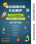 science camp invitation poster... | Shutterstock .eps vector #1043289103