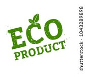 eco product stamp sign white... | Shutterstock .eps vector #1043289898