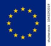 european union flag | Shutterstock .eps vector #1043292019