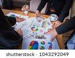 business team corporate... | Shutterstock . vector #1043292049