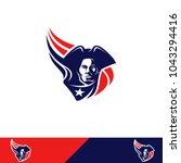 patriots design logo | Shutterstock .eps vector #1043294416
