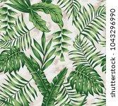tropical green plants colors... | Shutterstock .eps vector #1043296990