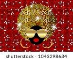portrait african women   dark...   Shutterstock .eps vector #1043298634