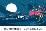 group of policemen detain... | Shutterstock .eps vector #1043301520