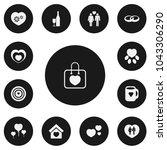 set of 13 editable heart icons. ...