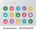 set of 15 editable food icons....