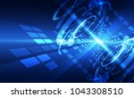 vector abstract futuristic high ... | Shutterstock .eps vector #1043308510