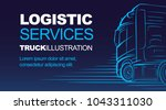logistic driver delivery... | Shutterstock .eps vector #1043311030