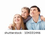 the family is looking up on...   Shutterstock . vector #104331446