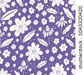 seamless vector floral pattern  ...   Shutterstock .eps vector #1043320420