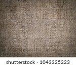 texture of coarse linen fabric. ... | Shutterstock . vector #1043325223