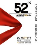52nd anniversary design with... | Shutterstock .eps vector #1043331073