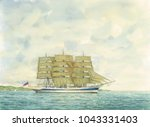 Tall Ship Watercolor Painting ...