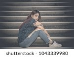 asian woman sad from love she... | Shutterstock . vector #1043339980