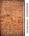 old red brick wall texture... | Shutterstock . vector #1043344330