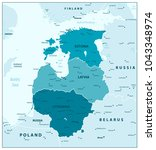 map of the baltic states in... | Shutterstock .eps vector #1043348974