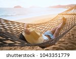 summer vacations concept  happy ... | Shutterstock . vector #1043351779