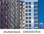 facing the building with a... | Shutterstock . vector #1043351914