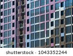 facing the building with a... | Shutterstock . vector #1043352244