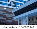 facing the building with a... | Shutterstock . vector #1043355148