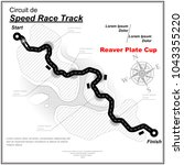 white speed track map with... | Shutterstock .eps vector #1043355220