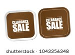 clearance sale stickers | Shutterstock .eps vector #1043356348