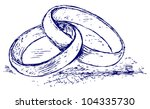 raster version. wedding rings | Shutterstock . vector #104335730
