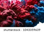 color drop in water. abstract... | Shutterstock . vector #1043359639