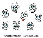 comics cartoon faces set with... | Shutterstock . vector #104336336