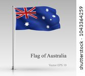 national flag of australia... | Shutterstock .eps vector #1043364259