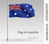 national flag of australia... | Shutterstock .eps vector #1043364259