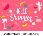 vector image with different... | Shutterstock .eps vector #1043366848
