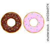 vector donut icon | Shutterstock .eps vector #1043366974