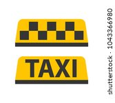 taxi icon illustration | Shutterstock .eps vector #1043366980