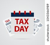 tax day icon | Shutterstock .eps vector #1043366989