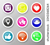 icons for social networking... | Shutterstock .eps vector #1043368264