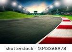 evening scene asphalt... | Shutterstock . vector #1043368978