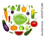 healthy vegetables such as ... | Shutterstock . vector #1043371168