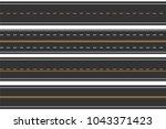 horizontal seamless roads. set...   Shutterstock .eps vector #1043371423