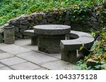 Stone Table With Benches In Th...