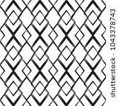 black and white seamless...   Shutterstock .eps vector #1043378743