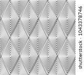 black and white seamless... | Shutterstock .eps vector #1043378746